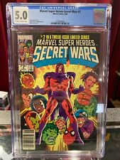 Marvel Super Heroes Secret Wars #2 CGC 5.0 RARE NEWSSTAND 1984 Comic Book