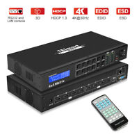 TESmart 4x2 4x4 HDMI Matrix Switcher Support 4 in 4 or 2 out  4K HDCP 1.4 1080P