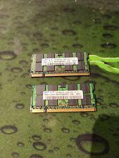 2X 2GB (4GB) Samsung DDR2 PC2-5300 667MHZ 200pin Laptop Memory Ram