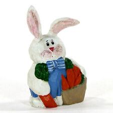 "Midwest of Cannon Falls Bunny Rabbit Carrot Basket 3.25"" Figurine Eddie Walker"