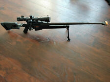 Ares PGM Bolt Action Sniper Gas Airsoft Rifle 6mm (Black), scope , bipod, rare.