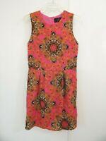 womens JACK BB DAKOTA dress shift sheath sleeveless floral vintage inspired 6