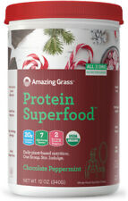 Protein Superfood, Amazing Grass, 10 servings Chocolate Peppermint