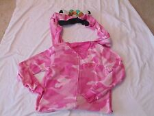 Womens DUCK DYNASTY Footed Pajamas PINK CAMO Fleece UNION SUIT M Medium