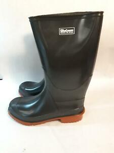 Vintage LaCrosse Made in USA Welly Style Rubber Boots Mens 7 Womens 9 Black