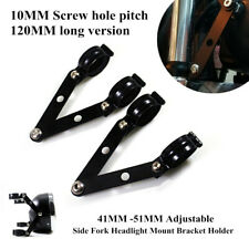 41-51MM Adjustable Universal Motorcycle Side Fork Headlight Mount Bracket Holder