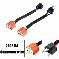 2x 9003 H4 Wire Harness Adpters Socket Plug Cable Headlight Connector Extension