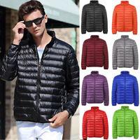 Mens Packable Duck Down Jacket Ultra Lightweight Winter Coat Warm Puffer Parka