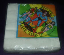 VINTAGE  SUPER FRIENDS PARTY NAPKINS  SEALED PACKAGE OF 20  USA 1976 1978