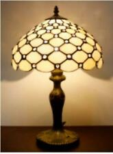 Tiffany Style Table Lamp Handcrafted Light Shade Small Desk Glass Stained Lamps
