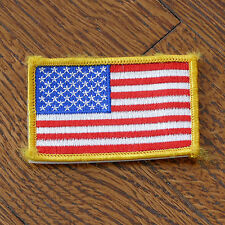 """US Flag Embroidered Velcro Patch 3x2"""" United States USA Bandiera"""