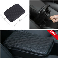 Car Armrest Cover Pad Center Console Box Leather +Sponge Black Universal 30*21cm