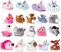 Womens Girls Novelty 3D Character Plush Unicorn CLEARANCE Slippers Ladies UK 3-8