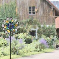 Wind Spinners sliver Outdoor Metal Yard wind catcher NEW Gardening Decorations