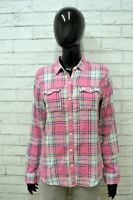 Camicia ABERCROMBIE Donna Taglia XS Maglia Shirt Woman Cotone Quadri Regular Fit