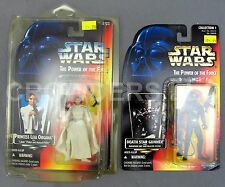 Sw PotF Red Card Death Star Gunner & Princess Leia Organa 3 Band Belt Kenner '95