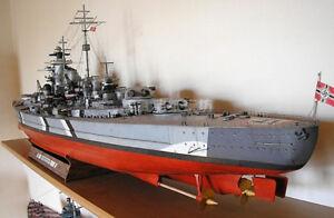 1:200 Scale Nazi German Battleship Bismarck DIY Handcraft Paper Model Kit