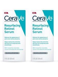 (Lot of 2) CERAVE RESURFACING RETINOL SERUM.1 FL OZ.