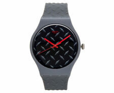 Swatch Men's Silicone/Rubber Band Wristwatches