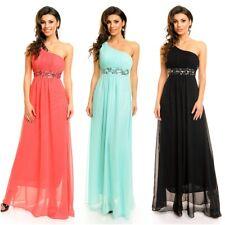 One Shoulder Abendkleid Strass Abiballkleid Maxikleid Cocktailkleid Kleid 3156
