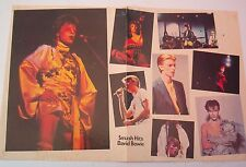 DAVID BOWIE many faces of Bowie Centerfold magazine POSTER  17x11 inches