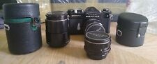 Asahi Pentax Spotmatic three lens complete kit