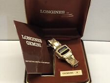 1976 Longines Gemini LCD LED Quartz Digital watch uhr MOT