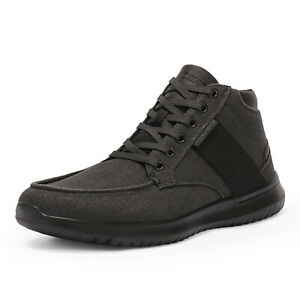 Mens High Top Fashion Sneakers Canvas Casual Shoes Comfort Walking Shoes