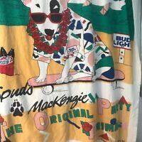 Vtg Spuds Mackenzie 1987 Beer Beach Towel Some Wear