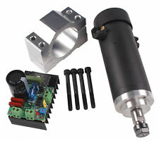 450W 3000-12000rpm CNC Spindle Motor Kits PWM Speed Controller  Mount Bracket