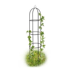 Rankobelisk aus Metall freistehend, Rosen Rankhilfe für Garten, Deko Rankturm
