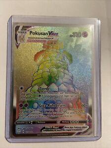 Pokusan VMax 073/072 -Pokemon Karte - Rainbow Rare - Glänzendes Schicksal - DE