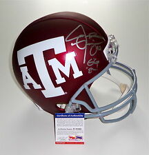 "JOHNNY MANZIEL SIGNED ""GIG 'EM!"" TEXAS A&M CUSTOM #2 FULL SIZE HELMET PSA R83460"