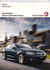 2011 HOLDEN VE II COMMODORE SPECIAL EDITION EQUIPE SEDAN & SPORTWAGON Brochure
