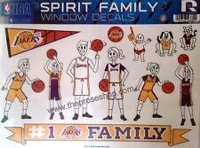 Los Angeles Lakers LA Family Spirit LARGE Window Decal Sheet NBA Basketball