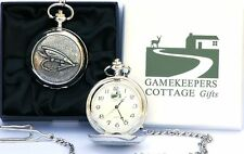 Trout Fishing Fly Pocket Watch Gift box FREE ENGRAVING