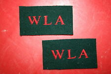 BRITISH ARMY WOMAN'S LAND ARMY CLOTH SHOULDER TITLES