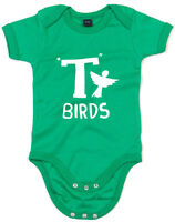 T Birds, Grease inspired Kid's Printed Baby Grow