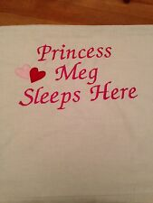Personalised Embroidered Princess Pillow Case - Poly Cotton