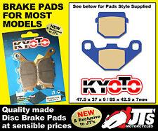 REAR SET OF DISC PADS BRAKE PADS FOR E-TON QUADS Viper 50 Mini RXL50 RXL M 03-07