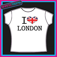 I LOVE HEART LONDON UNION JACK FLAG TSHIRT