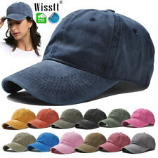 Cotton Sunhat Baseball Washed Style Plain Adjustable Blank Dad Caps Golf Hats UK