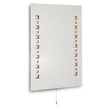 Modern Mosaic Design IP44 LED Bathroom Mirror Light Shaver Socket Pull Cord