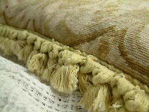 "24"" Huge Simple Elegant Hand Stitched VTG. Decorative Needlepoint Pillow Cushion"