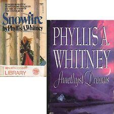LOT 2 Phyllis A. Whitney SNOWFALL pb AMETHYST DREAMS hc W2