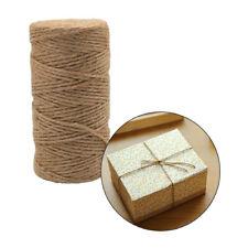100M 2mm Craft DIY Making Twine Cord   Durable Jute Twine Natural Brown String
