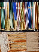 Vintage Knitting Aiguilles Lot De 68 16 Bambou 52 Aluminium Avec Chiffon Étuis