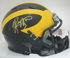 Wolverines JABRIL PEPPERS Signed Mini Helmet AUTO - 2016 NFL Draft -  JSA!!