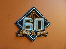 SAN FRANCISCO GIANTS 60 YEARS  MLB  Embroidered 3-1/2 x 3-1/2 Iron On Patch