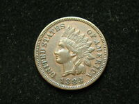 NEW INVENTORY!!  AU 1883 INDIAN HEAD CENT PENNY w/ FULL LIBERTY & DIAMONDS #141s